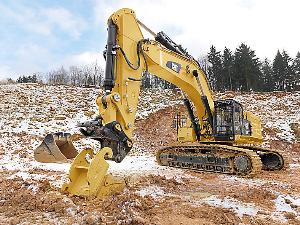 cat excavator in action