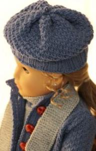 dollknittingpatterns 0141d sophia (januar) - dress, jakke, lue, skjerf og sokker-(norsk)