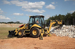 CAT Backhoe on the Job   Photos and Images   Technology