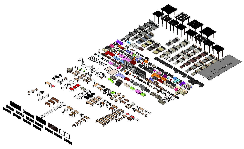 160115 - Revit Furniture 410 Families
