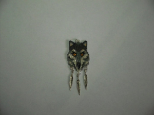 peyote stitch gray wolf delica seed beading pendant pattern-420