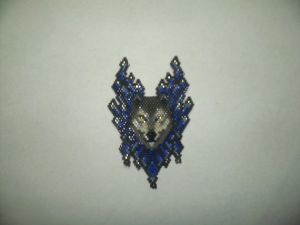 brick stitch wolf delica seed beading pendant pattern-421