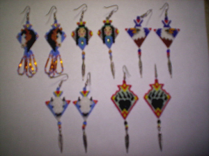 brick stitch arrowhead delica seed beads earring patterns-237