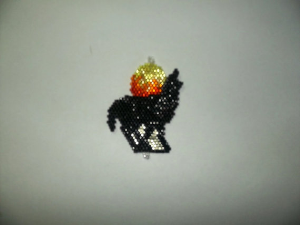 brick stitch howling wolf delica seed beading pendant pattern-306