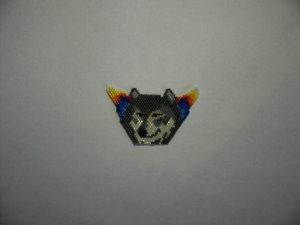 brick stitch gray wolf delica seed beading pendant pattern-441