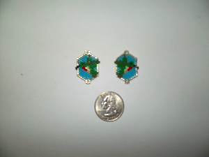 peyote stitch hummingbird delica seed beading earring pattern-430-