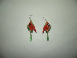 brick stitch cardinal delica seed beading earring pattern-314