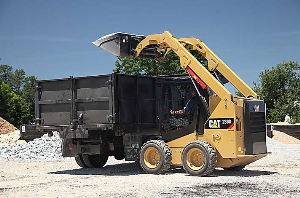 cat skid steer at the construction site