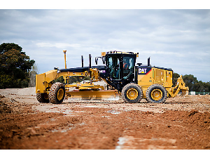Caterpillar Motor Grader at the Construction Site | Photos and Images | Technology