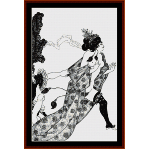 Cinesias Entreating Myrrhina - Beardsley cross stitch pattern by Cross Stitch Collectibles | Crafting | Cross-Stitch | Other