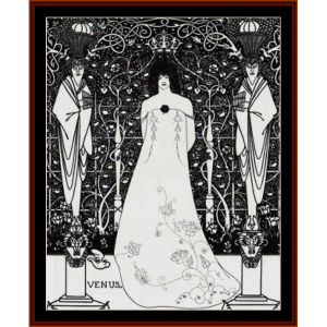 venus and tannhauser - beardsley cross stitch pattern by cross stitch collectibles