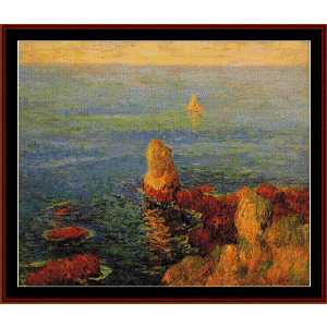 calm seat at l'ile de groix - moret cross stitch pattern by cross stitch collectibles