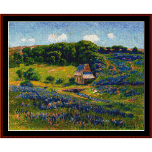 Farm in Breton Countryside - Moret cross stitch pattern by Cross Stitch Collectibles | Crafting | Cross-Stitch | Wall Hangings