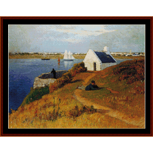 Lorient Harbor - Moret cross stitch pattern by Cross Stitch Collectibles | Crafting | Cross-Stitch | Wall Hangings