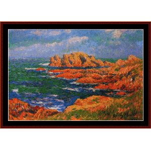 the rocks - moret cross stitch pattern by cross stitch collectibles