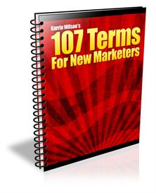 107 terms for new marketers with master resale rights