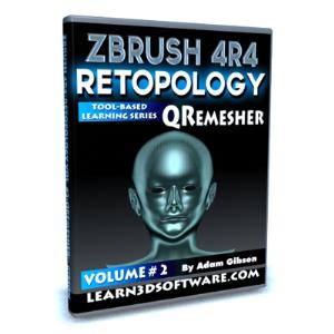 ZBrush 4R4-Retopology Volume #2- QRemesher   Software   Training