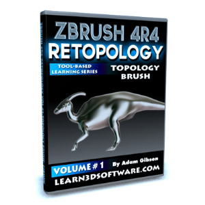 zbrush 4r4-retopology volume #1-topology brush