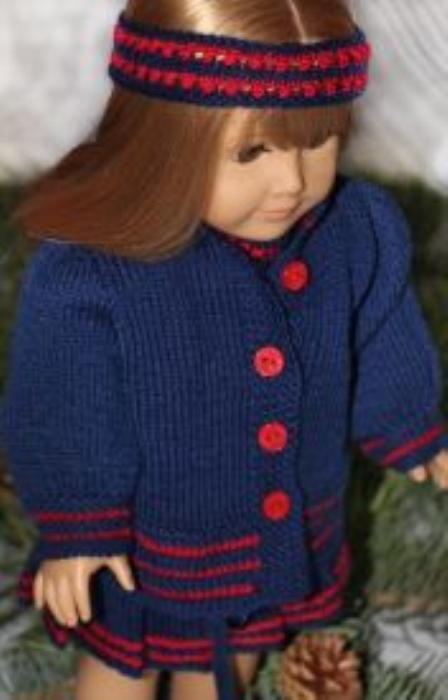 Second Additional product image for - DollKnittingPatterns 2014 Cadeau de Noël-Combinaison-(Francais)
