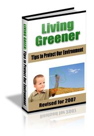 living greener - with private labels rights
