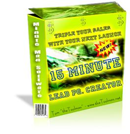 15 minute lead page creators - with private label rights