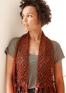 picot lace scarf