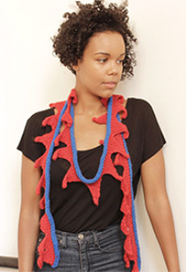 leafy lariats knitted scarf pattern