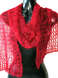 Haiku Lacy Scarf or Shawl Knitting Pattern | eBooks | Arts and Crafts