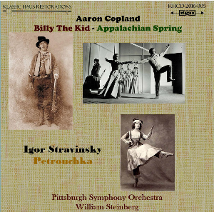 copland: billy the kid/appalachian spring; stravinsky: petrouchka - pittsburgh symphony orchestra/william steinberg