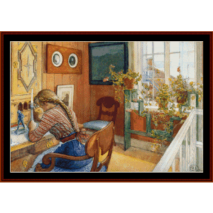 Correspondence - Larsson fine art cross stitch pattern by Cross Stitch Collectibles   Crafting   Cross-Stitch   Wall Hangings