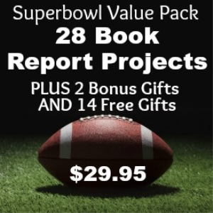 SuperBowl Sunday Book Report Value Pack: 28 Book Report Projects + 16 Free Gifts | Documents and Forms | Templates