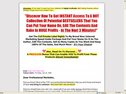 Fifth Additional product image for - Internet Marketing Speed Series Package 5 Ebooks  -With Private labels