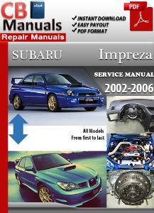subaru impreza 2002-2006 service repair manual