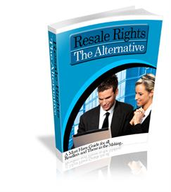 resale rights the alternative ebook  - with private labels rights