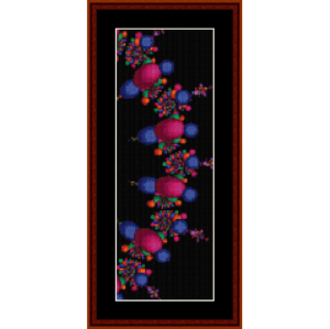 fractal 213 bookmark cross stitch pattern by cross stitch collectibles