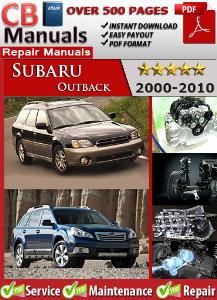 subaru outback 2000-2010 service repair manual