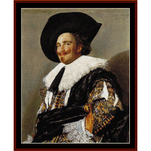 the laughing cavalier - frans hals cross stitch pattern by cross stitch collectibles