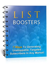 list boosters- with master resale rights