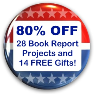 presidents day value pack: 28 book report projects + 14 free gifts