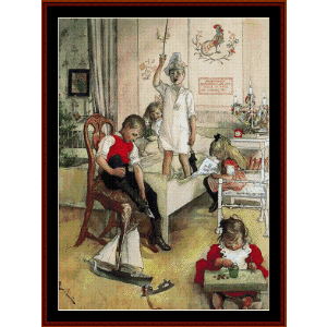 Christmas Morning - Larsson cross stitch pattern by Cross Stitch Collectibles   Crafting   Cross-Stitch   Wall Hangings