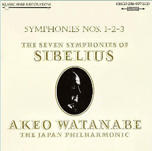 sibelius: symphonies nos. 1-2-3 - japan philharmonic orchestra/akeo watanabe