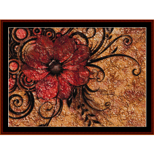 fractal 546 cross stitch pattern by cross stitch collectibles