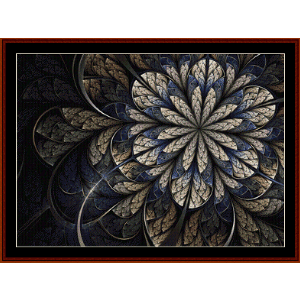 fractal 547 cross stitch pattern by cross stitch collectibles
