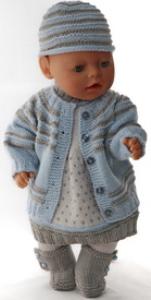 dollknittingpatterns 0143d sophia- (februari) -  vestje, jurk, kousenbroek, muts en schoentjes-(nederlands)