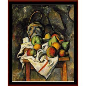 ginger jar - cezanne cross stitch pattern by cross stitch collectibles