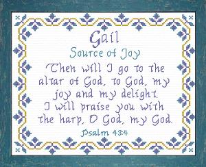 name blessings - gail