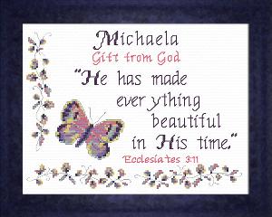 name blessings - michaela