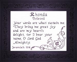 name blessings - rhonda
