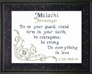 name blessings - malachi