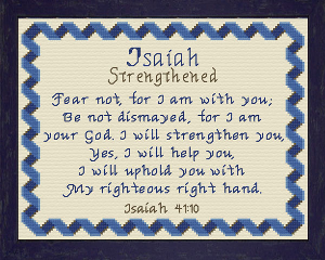 Name Blessings - Isaiah | Crafting | Cross-Stitch | Religious